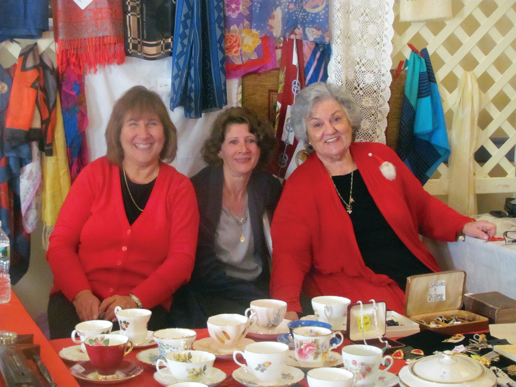 GOOD SAMARITANS: Three reasons why the Ladies Philoptochos Society at the Church of the Annunciation enjoyed another successful Christmas Bazaar last weekend were because of such volunteers as Anna Massenzio, Vikki Poulos and Anna Demetrakas.