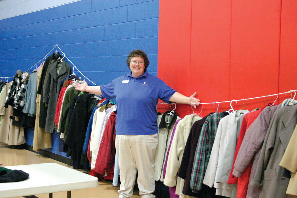 GIFT OF WARMTH: Nine locations throughout Rhode Island, including the Kent County YMCA, took part in the 16th Annual 16th Annual Buy Nothing Day Winter Coat Exchange. Tricia Driscoll, the facility�s membership director, said about 500 coats were donated to the cause.