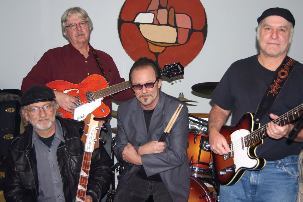 OLD IS NEW: The Old No. 7 Band is back in the local music scene after splitting up in 1984, and has a show at the Rocky Point Pub tomorrow night. From left are bassist Russ Rea, guitarist Peter Sousa, drummer Jack Matthews and guitarist Paul Gizelt.