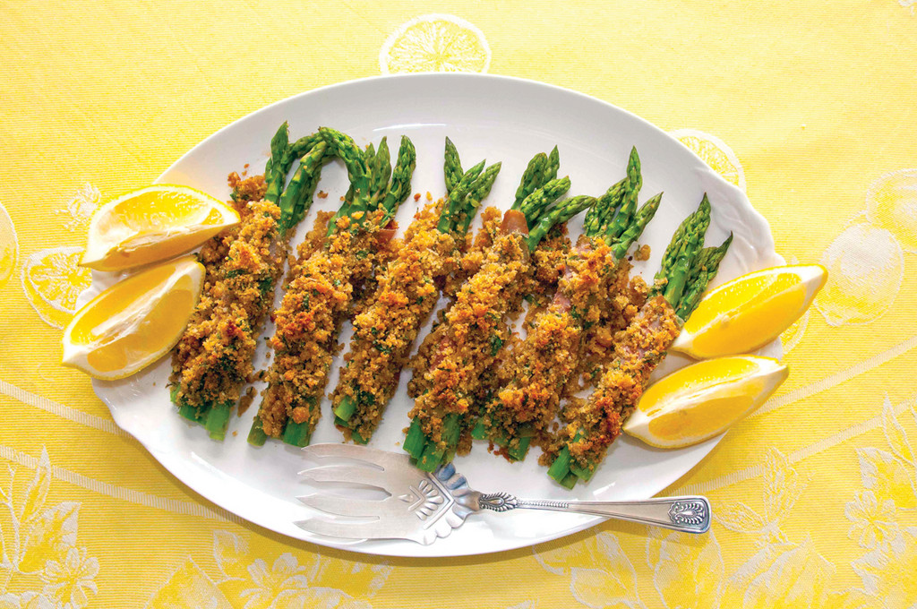 ASPARAGUS BUNDLES are elegant on the table and bursting with flavor.