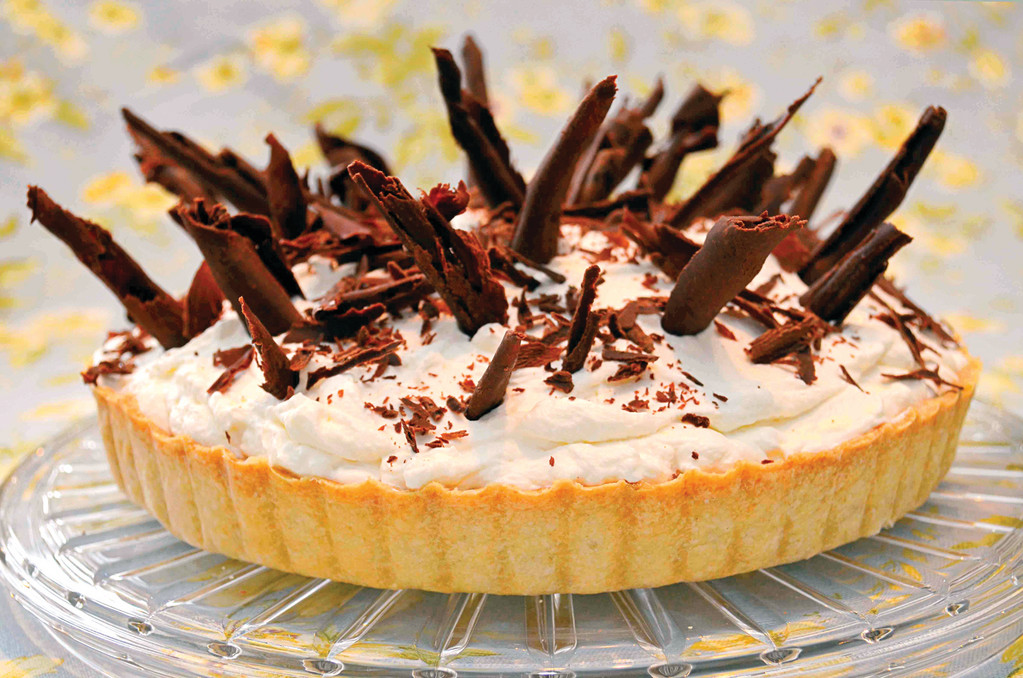BUDINO is the Italian word for pudding, and this pie has a rich chocolate pudding for the filling.
