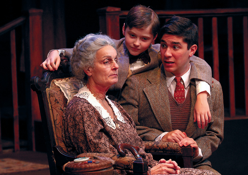 "Paula Faber as Grandma (left), Matthew Pirraglia as Arty (center) and Andrew Iacovelli as Jay in ""Lost in Yonkers"" at 2nd Story Theatre, Warren, through Dec. 16."
