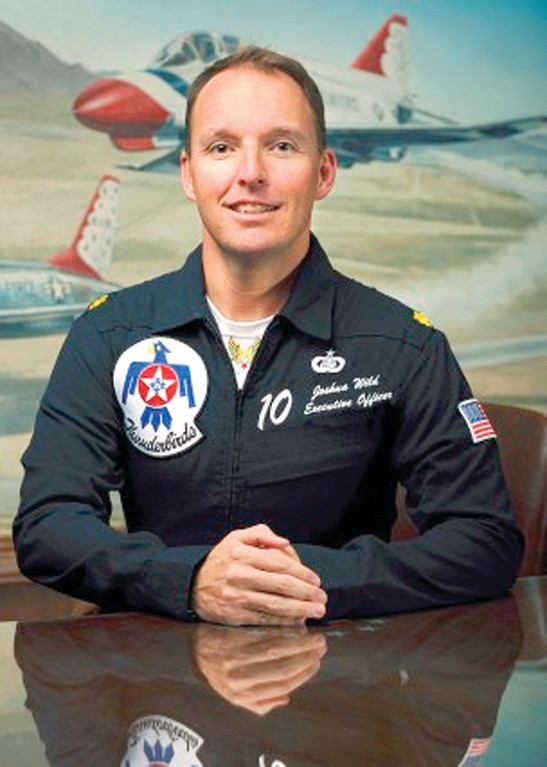 NEW BIRD: Maj. Josh Wild, who was born and grew up in Warwick, was recently appointed as Thunderbird 10 Executive Officer at Nellis AFB in Las Vegas, Nevada. He is a 1995 Toll Gate graduate.