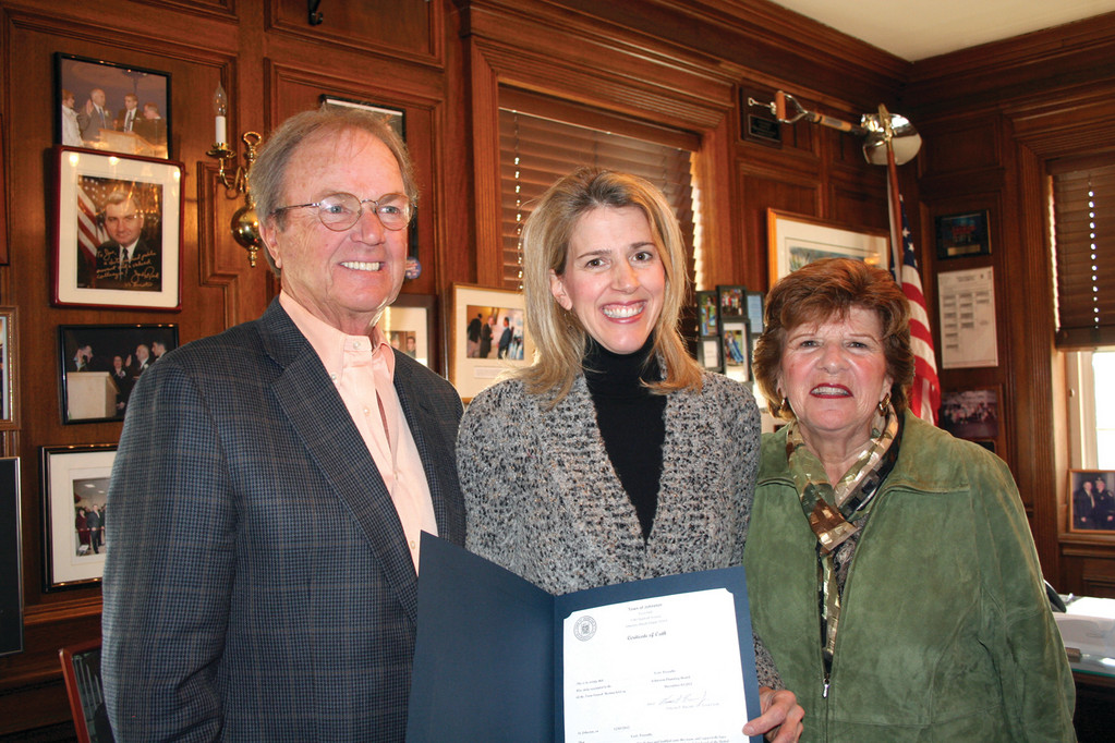 Pezzullo's parents, Ralph Fleming Jr. and Sandra Fleming, attended the swearing-in ceremony to support and congratulate their daughter on her most recent accomplishment.