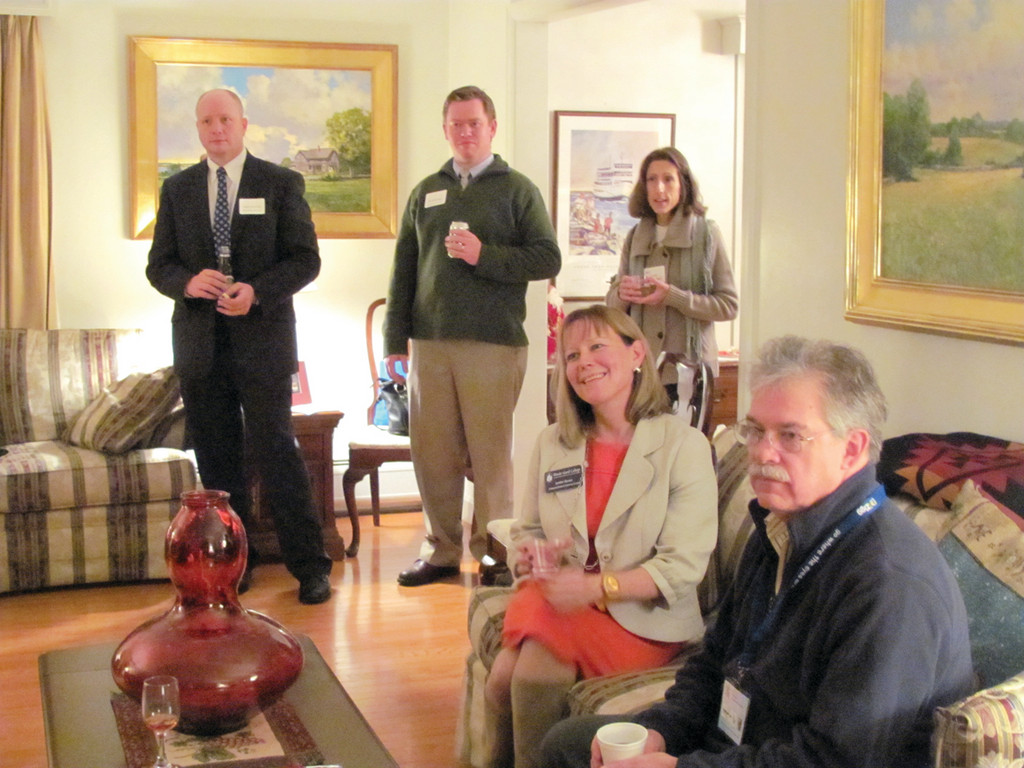 People who attended last Thursday evening�s North Central Chamber of Commerce Business After Hours learned all about Rhode Island College and President Nancy Carriuolo who opened her home for the event.