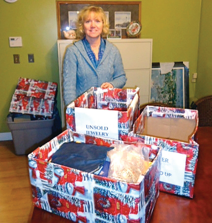 READY FOR FRIDAY'S AUCTION: Executive Director of the RI Family Shelter Patti Macreading is hopeful this Friday's jewelry auction will be a success.
