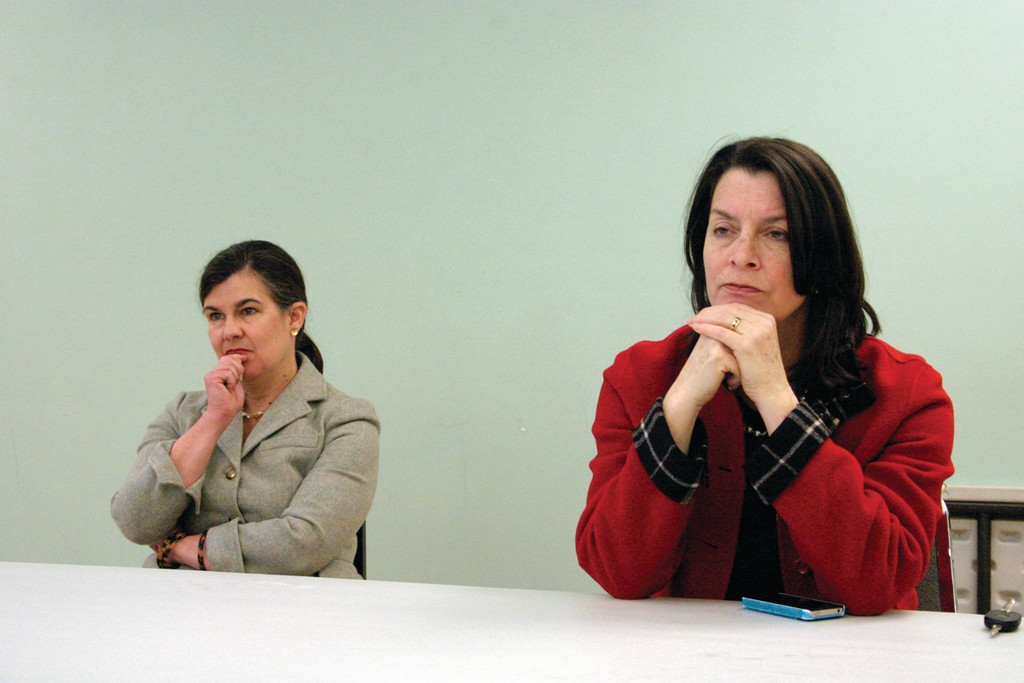 "LISTENING SESSIONS: Lt. Gov. Elizabeth Roberts (right) and Catherine Terry Taylor, the director of the Division of Elderly Affairs for the Rhode Island Department of Human Services, scheduled six free ""Listening Sessions"" throughout the state to give caregivers, health care providers, family members and anyone impacted by the disease an opportunity to tell their stories and provide vital input to a comprehensive state plan."