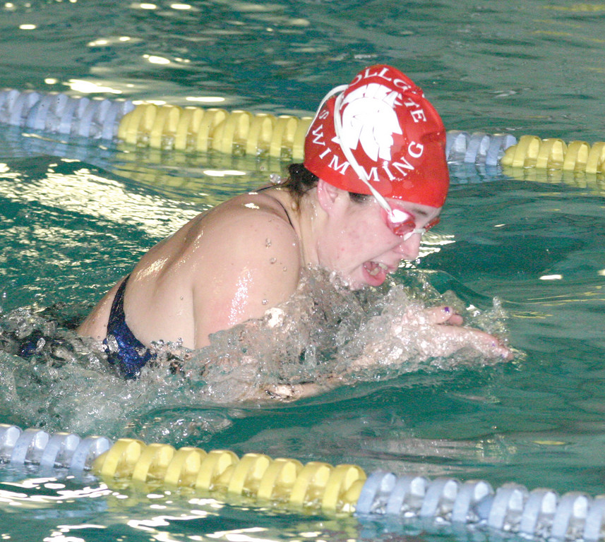 WATER WORKS: Toll Gate�s Mikayla Rogers competes in the 200 Individual Medley during Thursday�s season-opening meet.