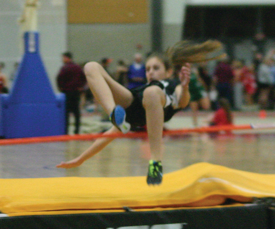ON THE RISE: Pilgrim's Madison Stanley competes in the high jump on Thursday.