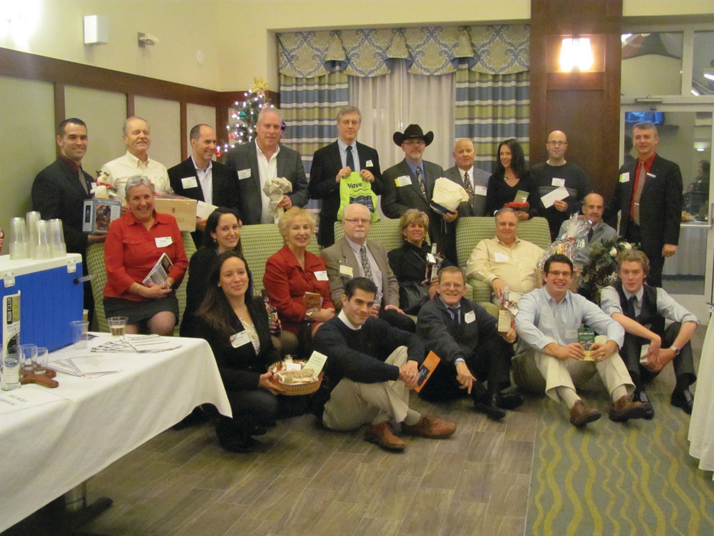 These are most of the 30 people that won special prizes at last Wednesday evening�s Central Rhode Island Chamber of Commerce Christmas Party and December Business After Hours, which was hosted by the Hampton Inn & Suites, located at 2100 Post Road in Warwick.