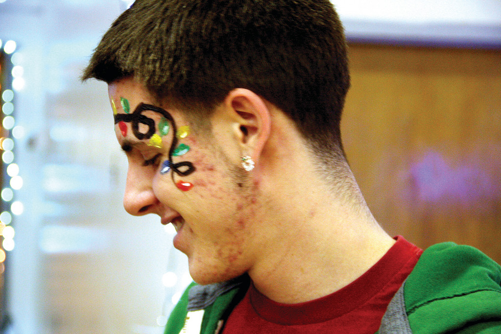 DECKED OUT: TJ Zincone III got right into the mood of the occasion.