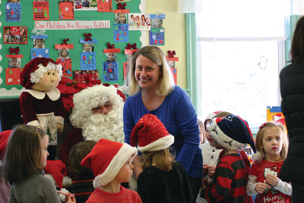 Toddler teacher Kristen Cotugno shows that adults believe in Santa, too.