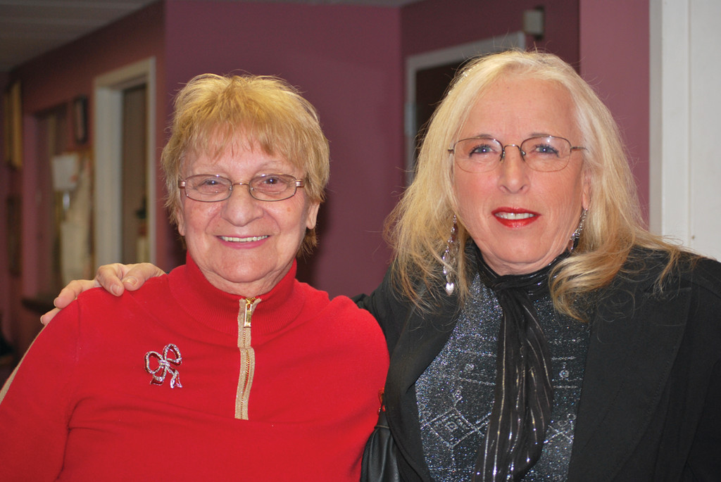 Pell resident Connie Falco poses for a photo with Councilwoman Eileen Fuoco.