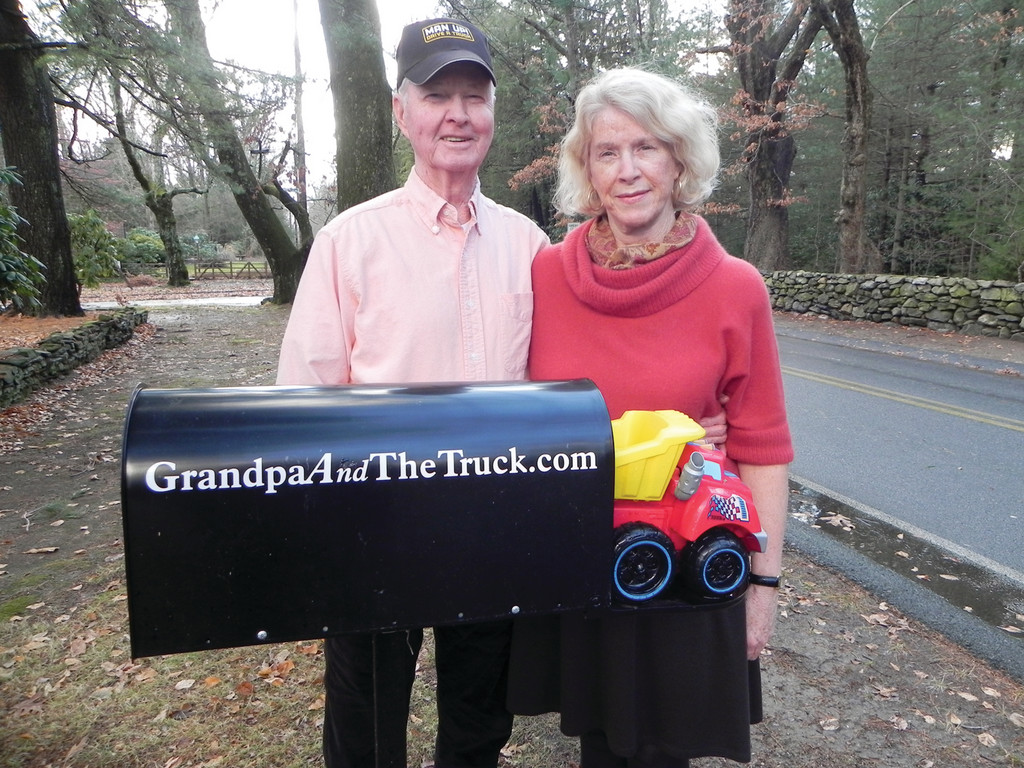 ON THE ROAD AGAIN: When Paul Wesley Gates and Colleen Kelly Mellor noticed how much their grandsons liked to hear Paul�s stories of being on the road as a long-haul truck driver, they decided to write a series of books to introduce more kids to the wide world of trucking. (Beacon Communications photo)