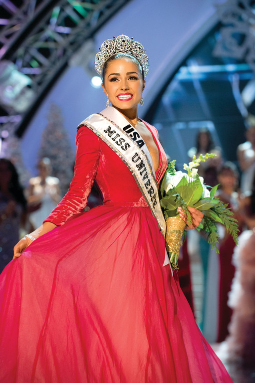 Cranston's Olivia Culpo shows off her crown immediately after being named Miss Universe last Wednesday in a live telecast of the pageant.