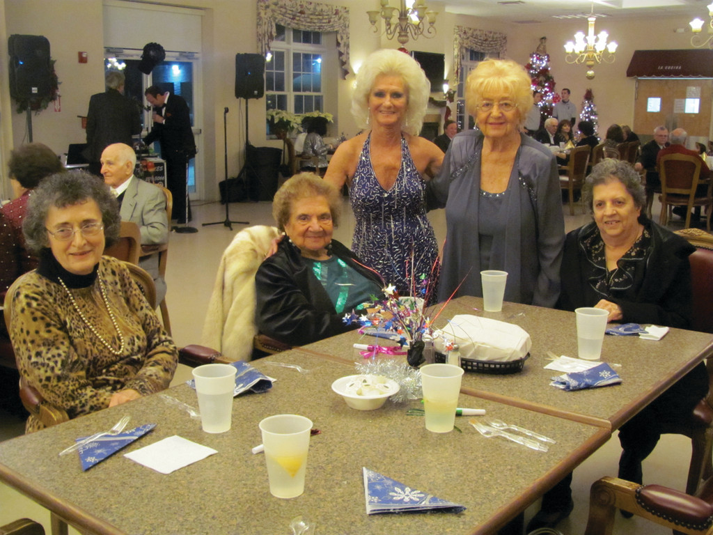 Pauline Santilli, Jennie Macera, Emma Butmarc, Anne Gladu and Dalmer Lamontia enjoy the gala.