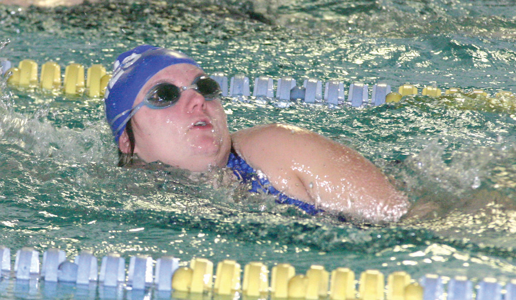 Ashley Petronelli swims the 50 freestyle for Vets on Friday.