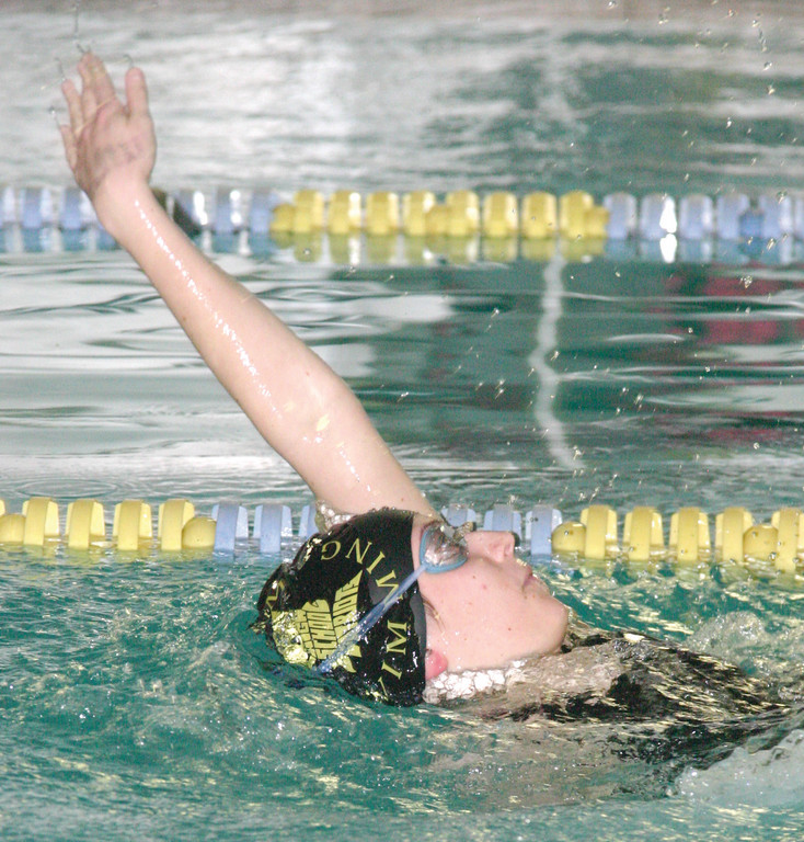 Abigail Slater dose the backstroke.