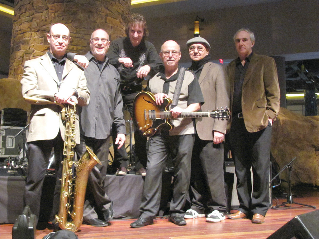 MUSIC MAKER: These are just six members of Roger Ceresi's All-Starz and All-Starz Horns, who are fresh from Sunday's appearance at Twin River Casino and who will open an interesting list of entertainment offers at the West Warwick Elks No. 1697 on Saturday evening, Jan. 19. The group includes, from left: Barry Fleischer, Roger Ceresi, Joey Sullivan, Riverside Rob Nelson, Papa Dick Souza and Matt McCabe. Missing is Chris Depot and John Abrahamsen.