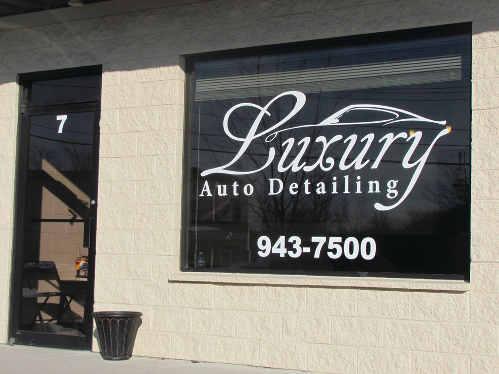 This is the entrance to Luxury Auto Detailing that�s located in Unit No. 7 in a nine-store plaza on Starline Drive off Plainfield Pike on the Cranston-Johnston line. The new business features a 1,200-square foot detailing shop.