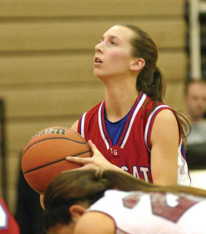 EYEING THE HOOP: Toll Gate's Lauren Barnes sets up for a free throw in Tuesday's game.