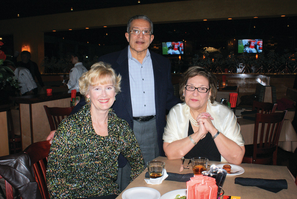 Pictured are Groden Center�s Human Resource Director Lori Vadney, Samy Morcos and his wife Groden Center CEO Helen Morcos.