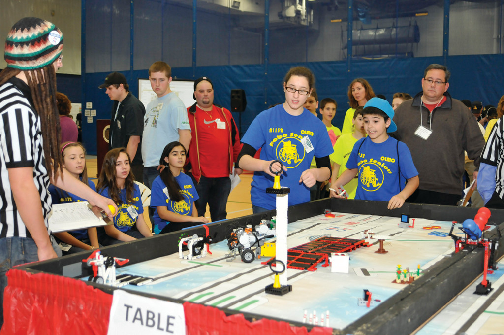 GETTING TECHNICAL: The Rockin' Robots in the heart of the competition.