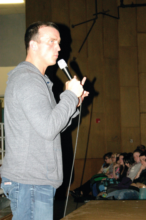 HIS STORY: Former NBA star Chris Herren visited Warwick Vets on Tuesday to address students about his experience with substance abuse.
