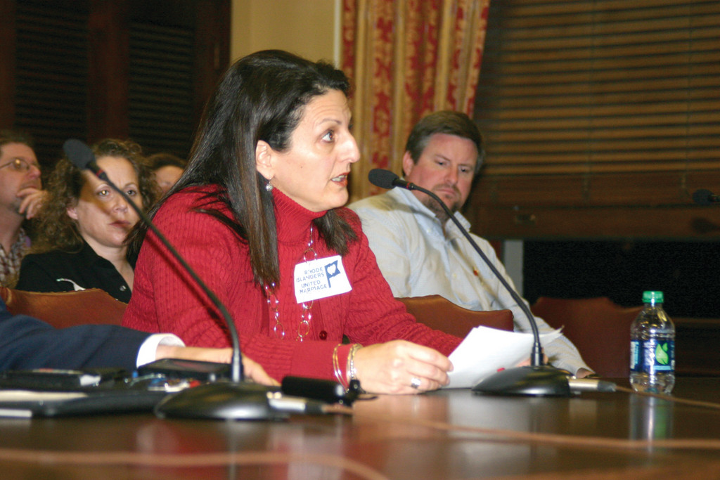 TESTIFYING: Former Senate candidate Laura Pisaturo testified in favor of the same sex marriage bill on Tuesday. Pisaturo ran unsuccessfully against Senator Michael McCaffrey in September. McCaffrey is opposed to same sex marriage and serves as the chairman for the Senate Committee on Judiciary.