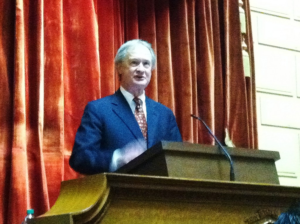 Governor Lincoln Chafee delivers the State of the State Address on Wednesday, Jan. 16.