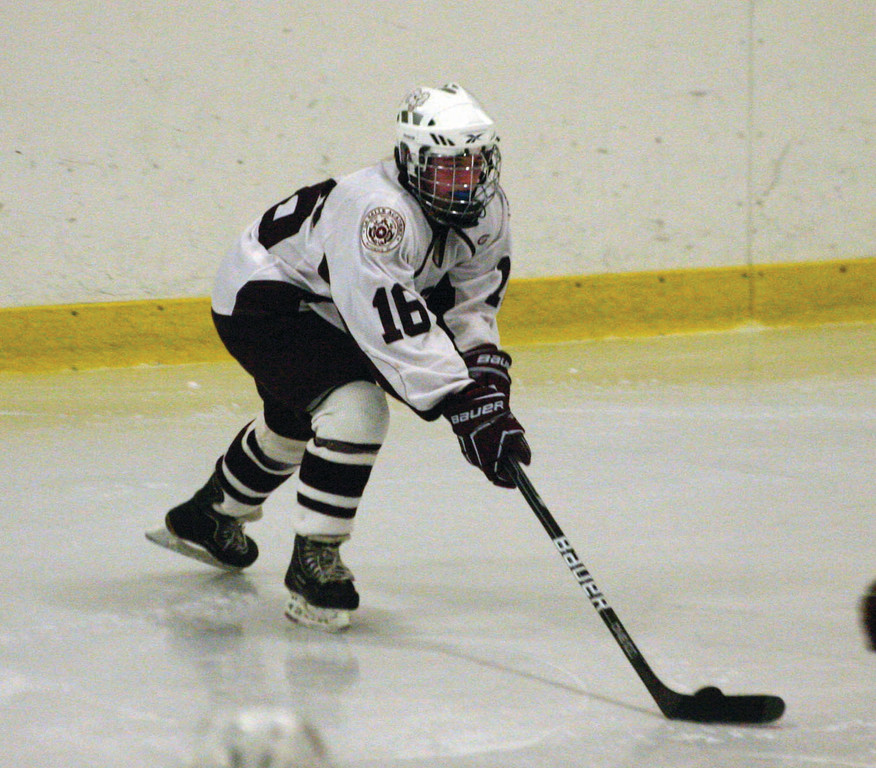 La Salle's Emily Coughlin controls the puck.