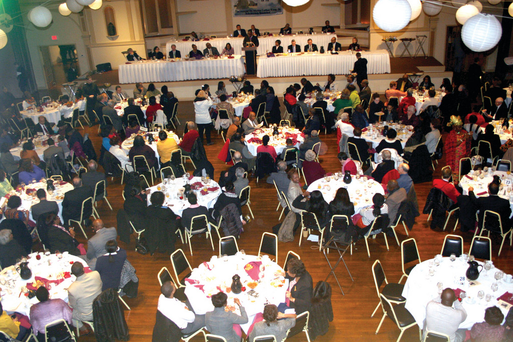PACK THE HOUSE: Rhodes on the Pawtuxet was full to the brim yesterday for the MLK Scholarship Breakfast, at which 27 Rhode Island students received $1,000 scholarships.