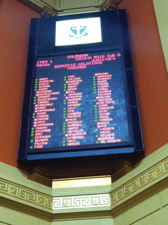 LOTS OF GREEN: The House of Representatives votes 51-19 in favor of Rep. Art Handy's same-sex marriage bill last week, an outcome many within the House had forecasted. The bill will now move on to the Senate, where it is assumed to get more resistance.