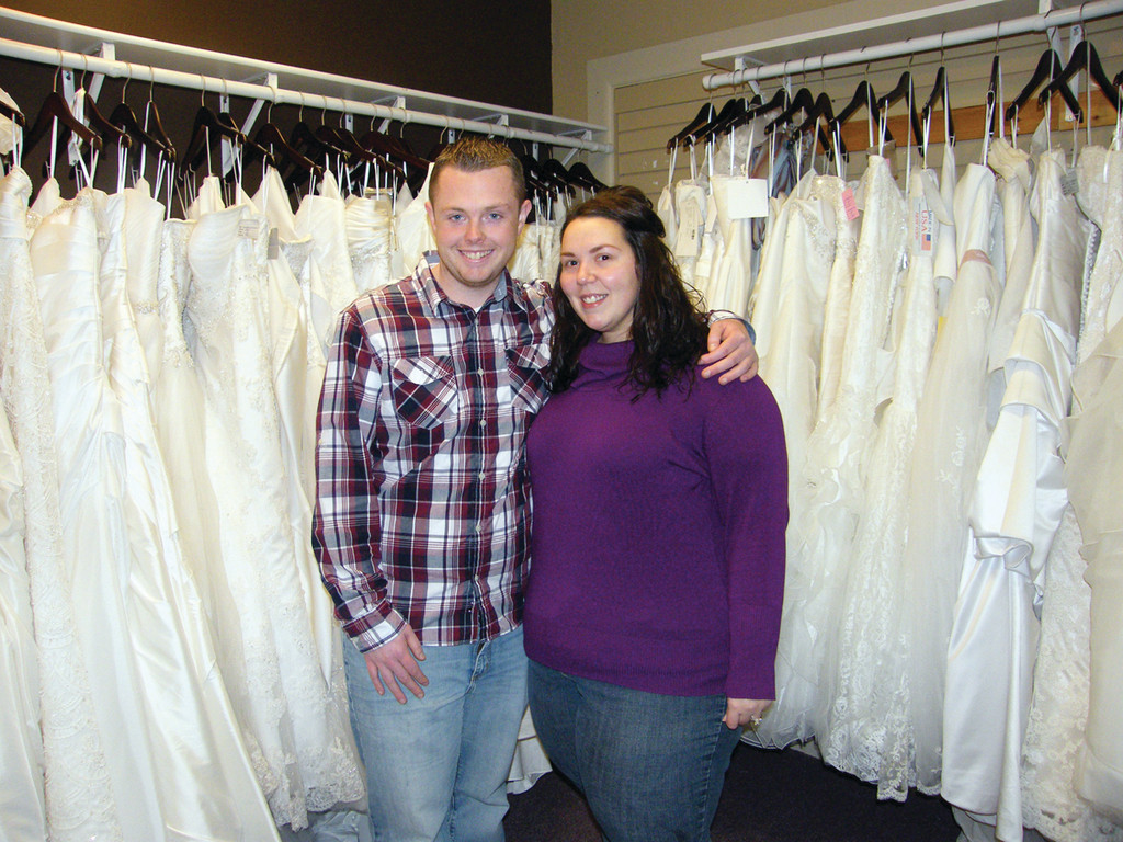 ALMOST MARRIED: Kelly Shaw and Chris Bennett will be married in November. Shaw is a professional bridal consultant for David's Bridal, but she said planning her own wedding is different from planning someone else's.