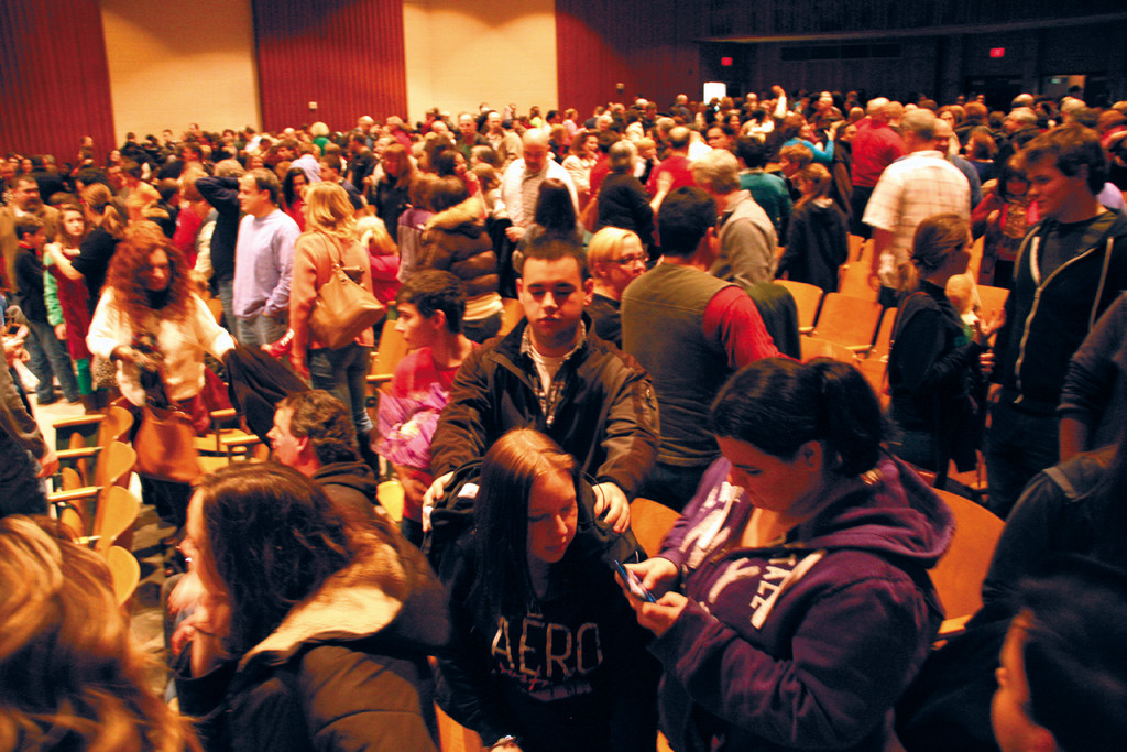 PACKING IN THE PATRIOTS: It was a full house Saturday as Pilgrim High observed its 50th anniversary.