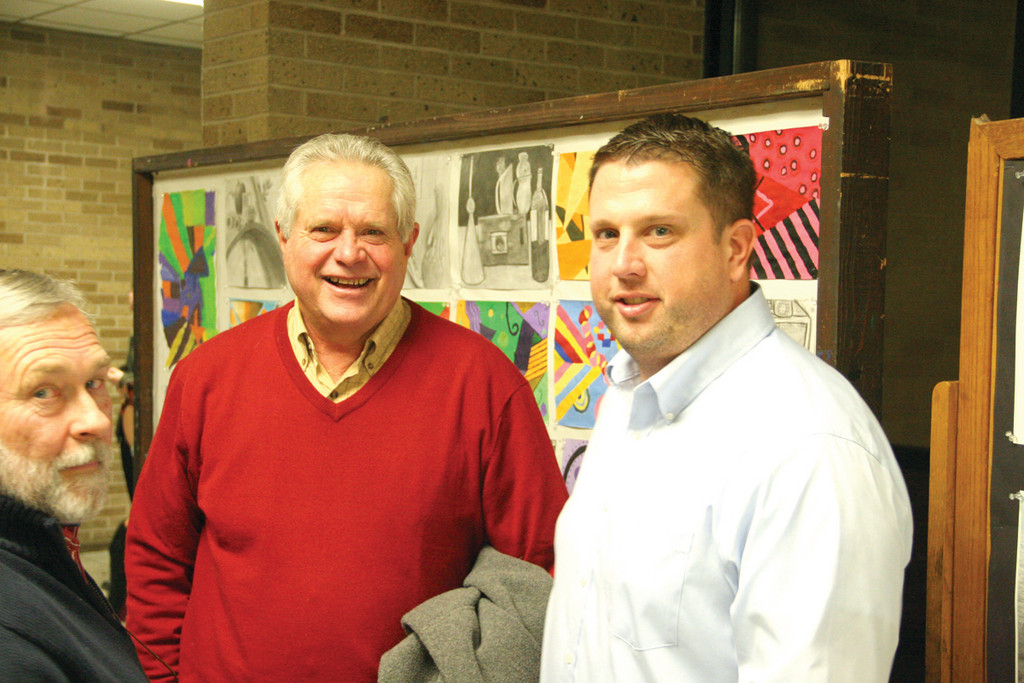 LIKE FATHER, LIKE SON: Bruce Fairbanks, who graduated from Pilgrim in 1964, is joined by his son, Bruce, who is now the school�s assistant principal.