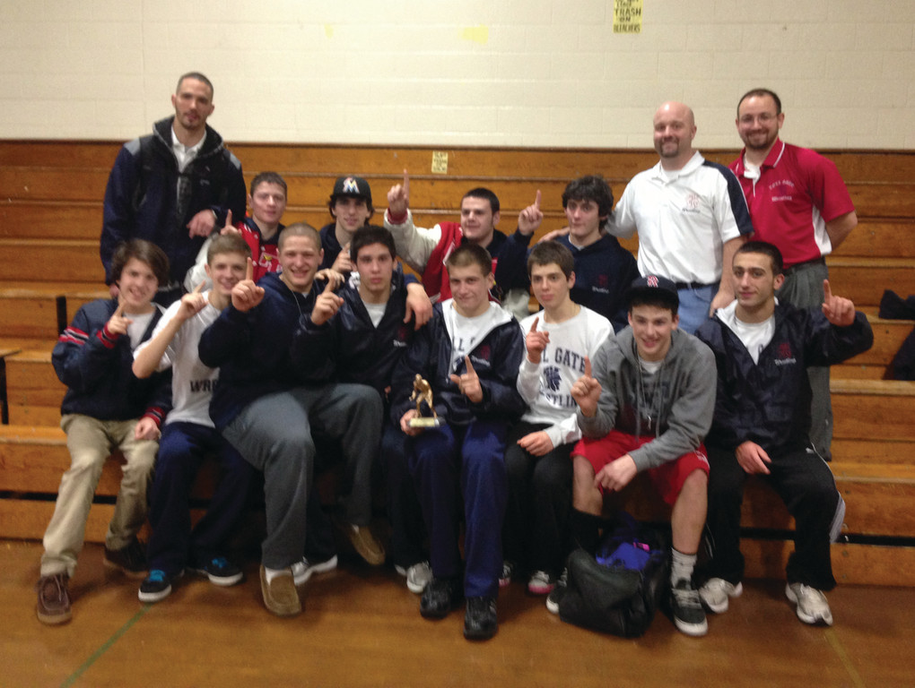 WINNING WAYS: The Toll Gate wrestling team had one of its best performances of the season over the weekend, taking home first place at the Smithfield Invitational.