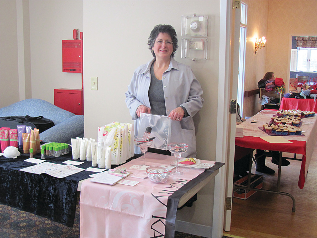 Mary Nunn, an independent sales director for Mary Kay, was one of nine vendors who participated in the Valentine's Extravaganza.