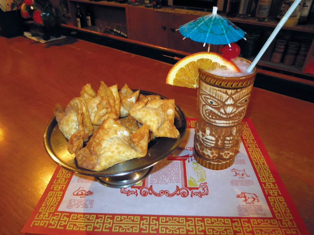 Treat yourself to a refreshing Polynesian drink and platter of golden Crab Rangoon at China Sea on Post Road.