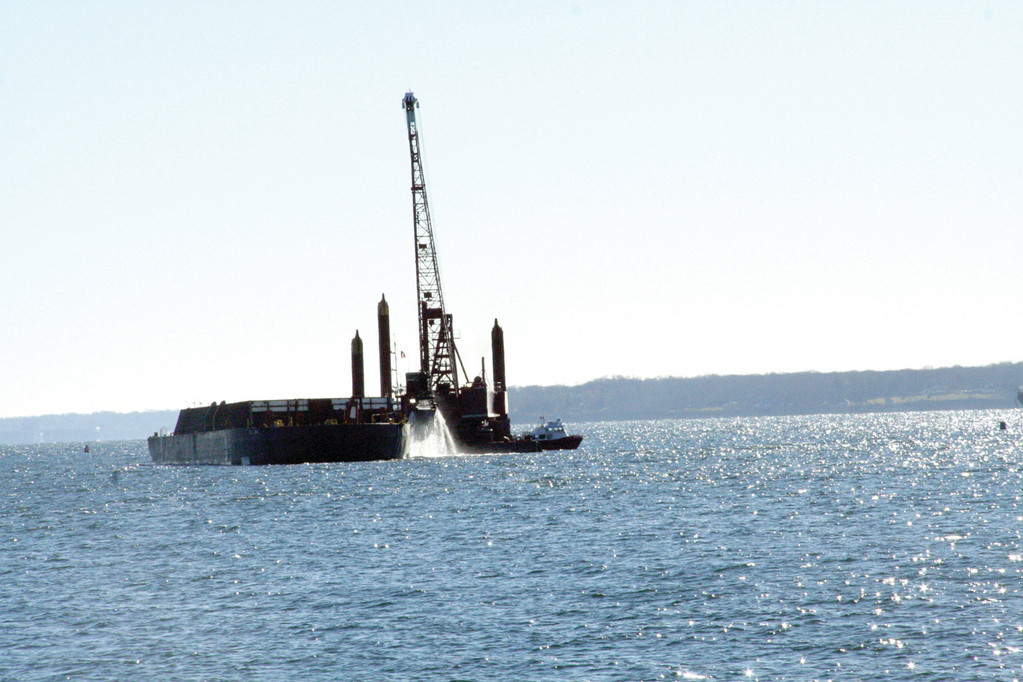 ENSURING ACCESS: Dredging of the Port of Davisville was recently completed along with pier improvements and the purchase of a crane that make it attractive for further development.