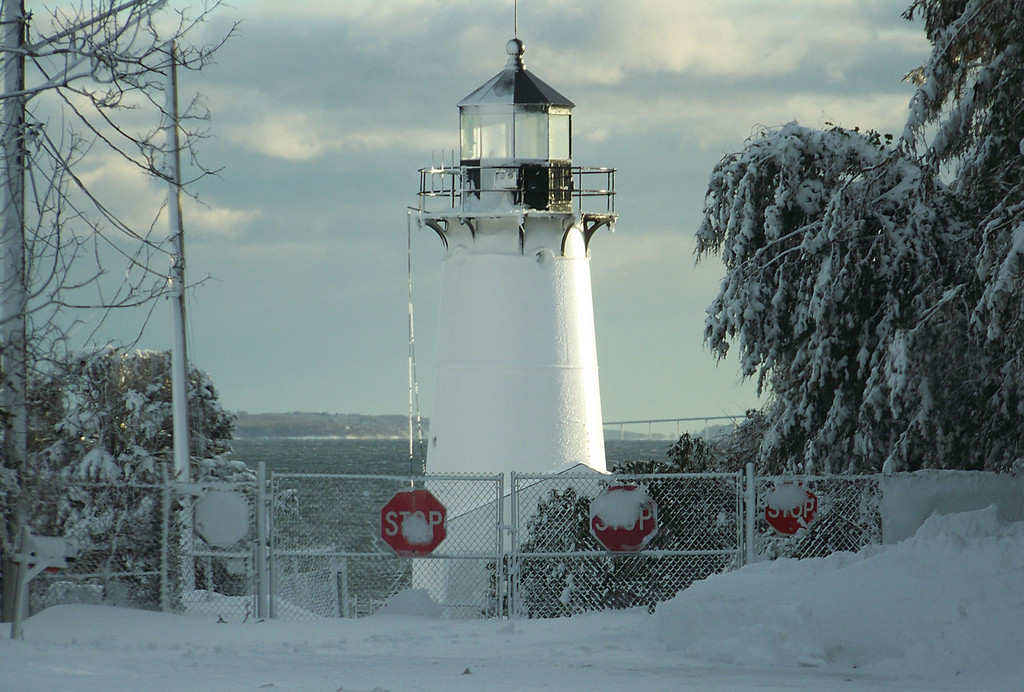 SNOWY SENTINEL: The beauty of the storm is captured in this photo of Warwick Neck Light.