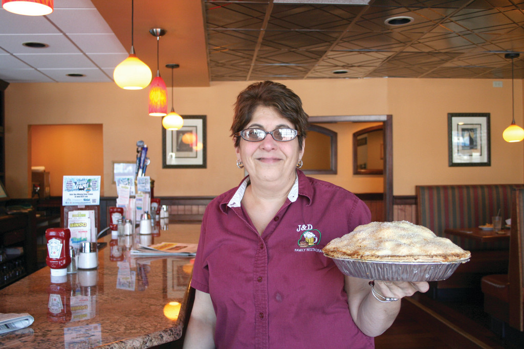 Debbie Johnson has worked at J&D Family Restaurant for 27 years, and now serves both as a supervisor and the head pastry chef. All of the restaurant's desserts are made fresh, on-site.