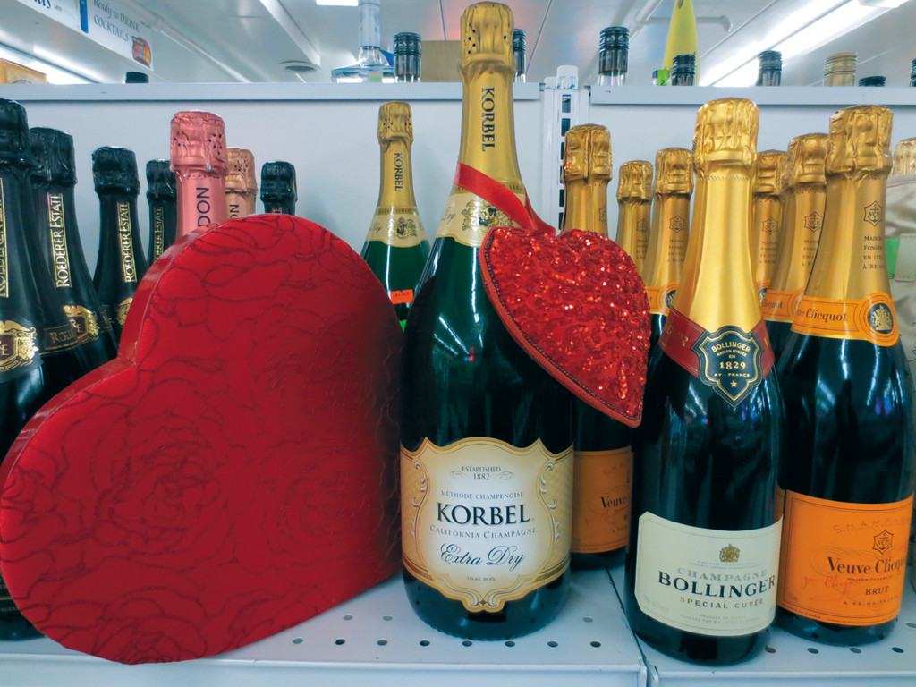 What better way to spend Valentine's Day with the one you love than with a glass of bubbly champagne from Airport Liquors in Warwick.