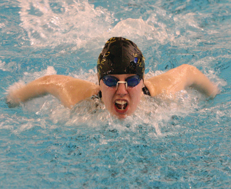 PATS IN THE POOL: Taylor Ryan competes in the 200 IM.