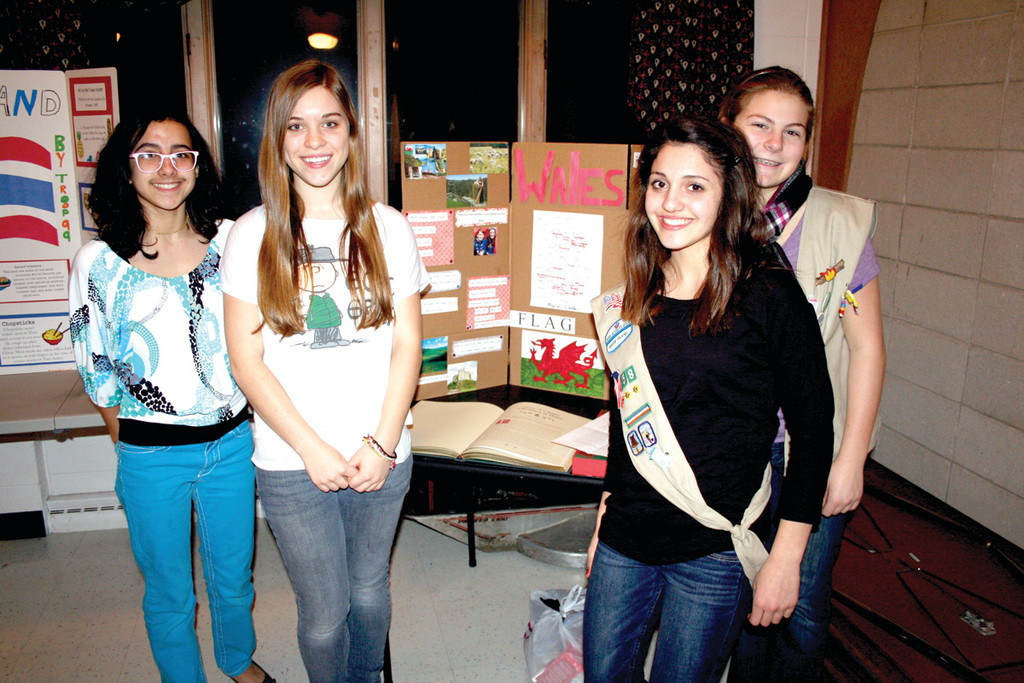 A TRIP TO WALES: Seniors from Troop 158 did an in-depth study of Wales for their contribution for World Thinking Day.