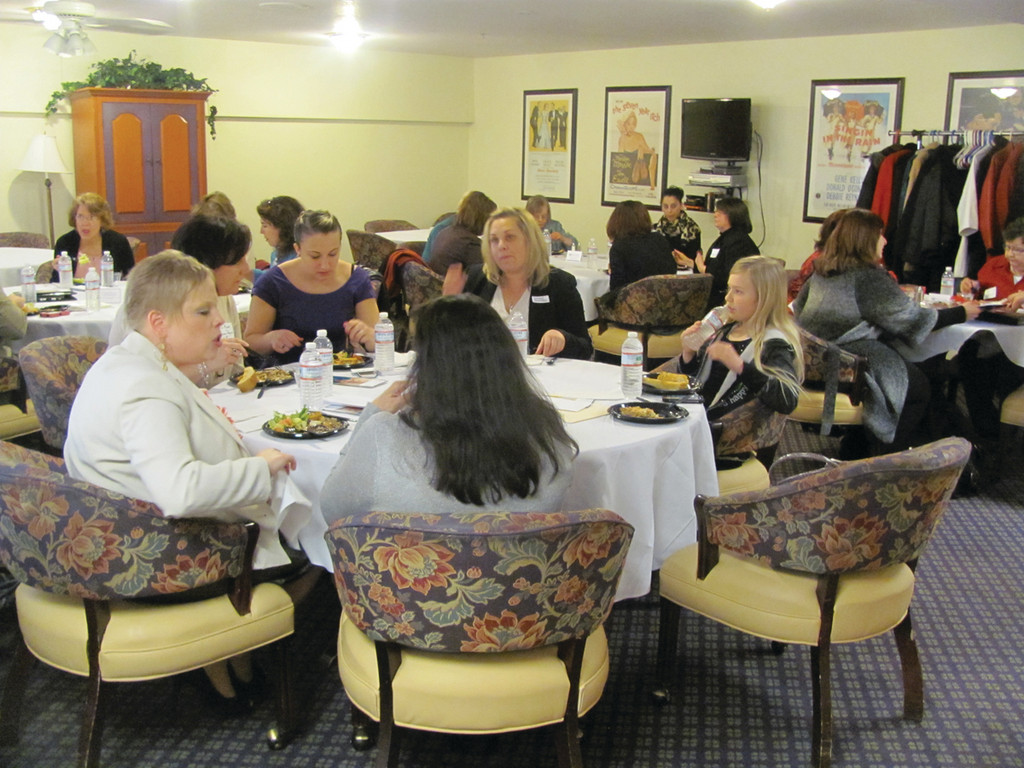 This was the scene at Pocasset Bay Retirement Living, where the North Central Chamber of Commerce's Women in Business Council held the first of a series of Lipstick Luncheons.