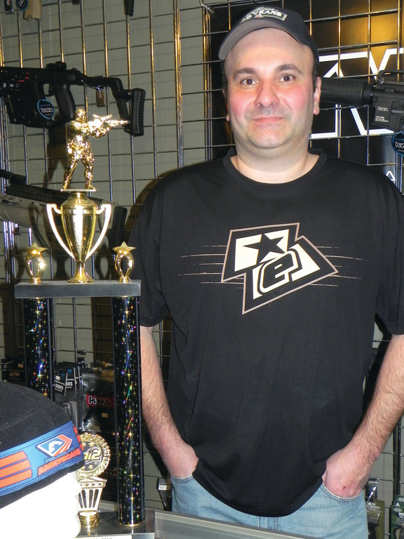 COMMANDER-IN-CHIEF: Rhode Island Paintball and Airsoft owner George Zervas can provide all you need and a place to play the fast-growing sport of airsoft combat.