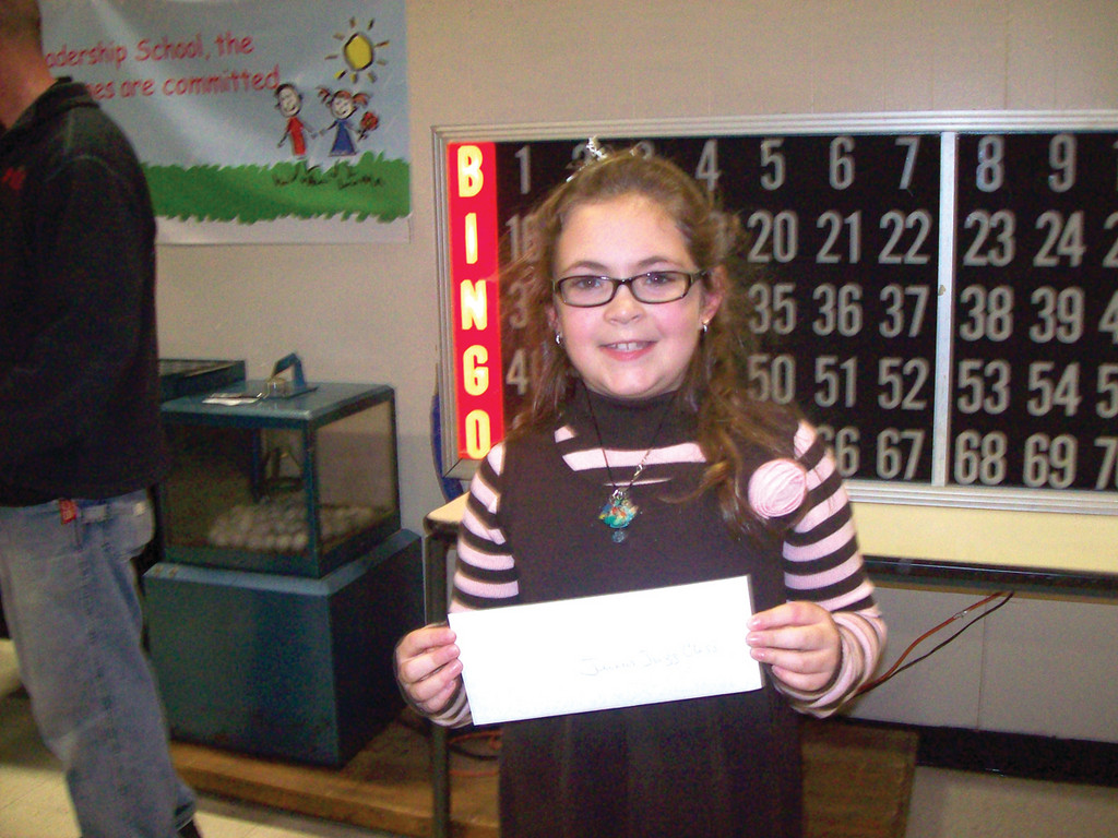 Abigail Alviti, a third grader at Barnes, won a junior jazz class at Greenville Jazzercise.