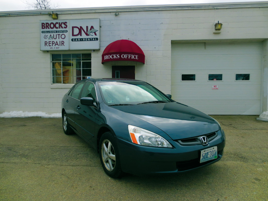 Check out this shiny 2003 Honda Accord - another satisfied customer at Brock's Collision Center on Post Road in Warwick.