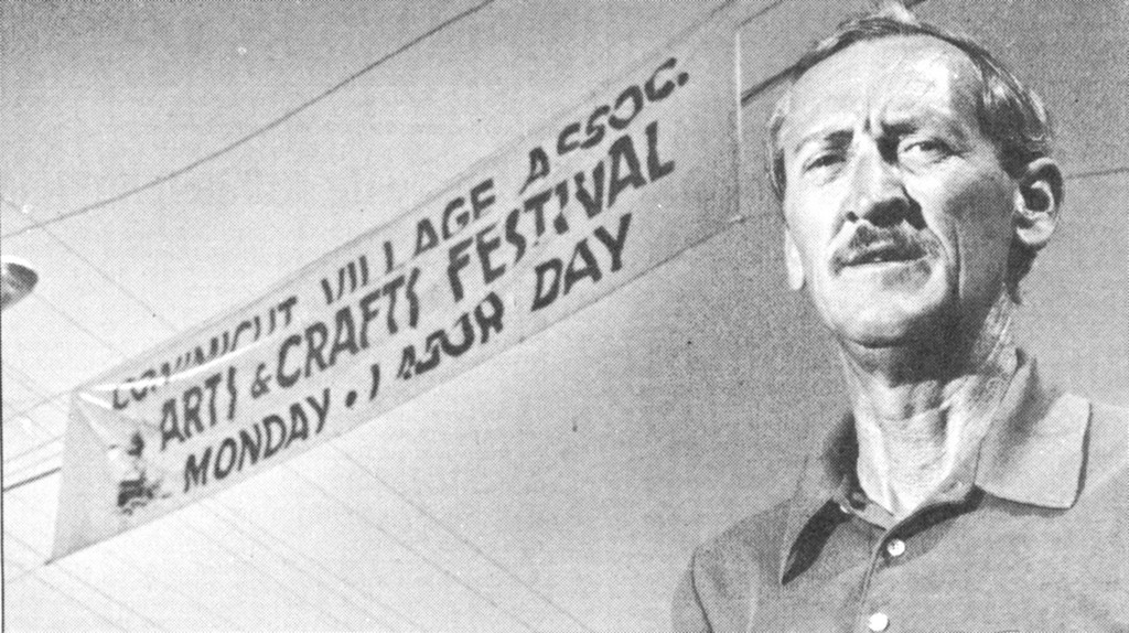 BACK IN �88: Alex Gray as pictured when he headed the village festival in a photo taken by Tom Stevens of the Providence Journal.